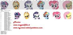 Schema punto croce My Little Pony solo viso 241x30 40 colori.jpg (1.01 MB) Osservato 19 volte