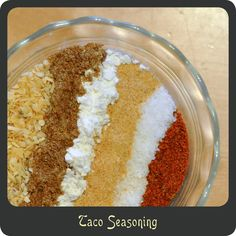 Taco Seasoning—Stop buying those prepackaged envelopes at the store, make your own taco seasoning!