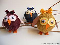 La classe della maestra Valentina: I GUFI realizzati con le palline da tennis