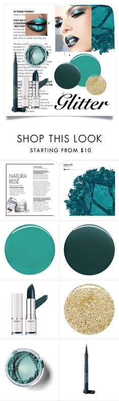 """""""Turquoise Glitter"""" by kendallbynature ❤ liked on Polyvore featuring beauty, Urban Decay, Burberry, Deborah Lippmann, Lancôme and Laura Geller"""