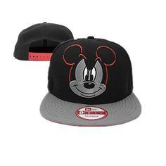 66d1185d9bc Cartoon Snapback Hats Gray Black ID 6680