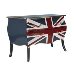 Union Jack Flag Bomb Chest Of Drawers Furniture Dresser Hallway Console Table Antique Bedroom Furniture, Antique Furniture For Sale, Antique Chinese Furniture, Chest Furniture, Retro Furniture, Handmade Furniture, Industrial Furniture, Painted Furniture, Outdoor Furniture