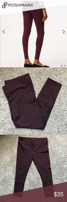 EUC Loft Seamed Ponte Leggings - XL Heathered plum preserves (color is darker than stock photos. My photos are accurate in color). LOFT Pants