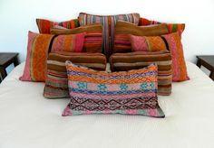 Peruvian Textiles -- Pillows #DIY #peruviantextiles #makeyourownpillow