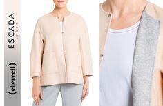 Esta chaqueta reversible en tonos grises y nude de #EscadaSport está hecha a mano con lana virgen y cachemir y es perfecta para combinar con cualquier tipo de pantalón.  ¿Lo mejor de todo? Puede ser tuya a un sólo click 😉 👇http://ow.ly/6kfK309Qzp1 ¡Feliz comienzo de semana!