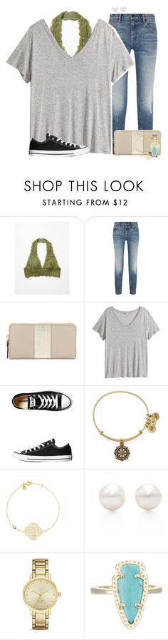 """""""She lost him, but found herself, and somehow that was everything\\Kate Elizabeth"""" by preppy-southerners ❤ liked on Polyvore featuring moda, Free People, Alexander Wang, Kate Spade, H&M, Converse, Alex and Ani, Tiffany & Co. y Kendra Scott"""