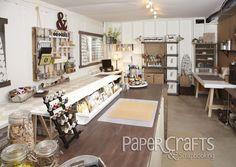 Jennifer Schaerer's craft room from Creative Spaces, Vol. 2: organization, craft space
