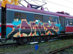 DRUX DAMAGERS CREW @damagers_official _______________________ #madstylers #graffiti #graff  #style #colorful #train #stylewriting #summer #sprayart #graffitiart
