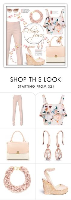 """Flower power"" by pomy22 ❤ liked on Polyvore featuring Antonio Berardi, New Look, Tiffany & Co., Kenneth Jay Lane, Jimmy Choo, Kate Spade, floral and Flowers"