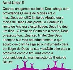 Qual o seu limite para Deus realizar? O meu limite foi Deus Me aprovar no Vestibular de Administração!