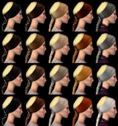 Juliet's Hair pookleted The Sims 2, Sims Cc, Play Sims, Sims Hair, Renaissance Fashion, The Body Shop, Italian Style, Headdress, Simple Style