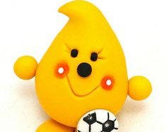 SOCCER PARKER Figurine - Sports Series - Polymer Clay Character Figurine or Ornament