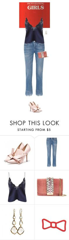"""Untitled #3255"" by wizmurphy ❤ liked on Polyvore featuring 3x1, Jonathan Simkhai, GEDEBE, Ippolita and frayeddenim"