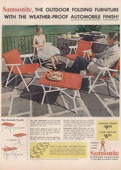1954 Samsonite Outdoor Furniture Automobile Finish Vintage Print Ad   eBay