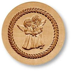 Two angels with candle springerle cookie mold 34$