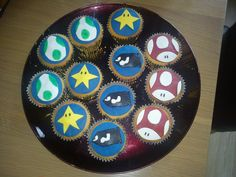 Its a Mario time :D Mario, Cupcakes, Plates, Tableware, Licence Plates, Cupcake, Dishes, Dinnerware, Griddles