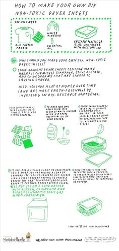 How to Make Your Own Non-Toxic Dryer Sheets « The Secret Yumiverse