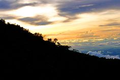 Clouds slowly gathered the wind, beauty is notable.Lawu Mt - indonesia