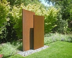 A ready made, double sided, free standing Corten Steel wall with outer rust coating. Manufactured using thick corten steel and available in 20 size options. Landscape Plans, Landscape Design, Weathering Steel, Garden Screening, Walled Garden, Garden Features, Water Features, Steel Wall, Screen Design