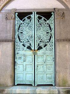 Ornate mausoleum door