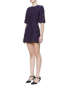 37ef86a04ea6 1 2-Sleeve Jewel-Button Tunic Dress by Dolce   Gabbana at Neiman