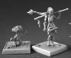 60147: Druid and Familiar ($6.99) Patrick Keith Reaper Miniatures :: OnlineStore