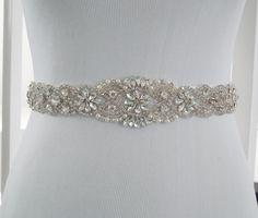 Wedding Sash Belt, Bridal Belt, Sash Belt, Wedding Dress Sash, Crystal Rhinestone Belt, Style 159