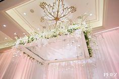Stephanie + Eric Ballroom Wedding Ceremony| Perez Photography via Carats & Cake