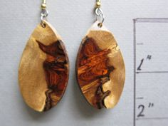 Beautiful Amboyna Exotic Wood Dangle by ExoticWoodJewelryAnd @artnmore