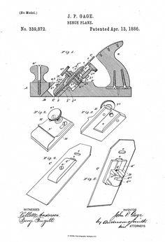 USA Patent Drawing adjustable WRENCH Plumber DIY tool MOUNTED PRINT 1915 Gift