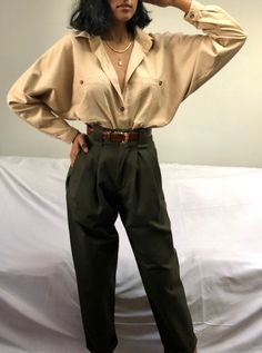 Mid-Weight Cotton Townes Trouser / Multiple Colors Mid-Weight Cotton Townes Hose / Mehrere Farben This image has get Outfits 90s, Mode Outfits, Chic Outfits, Sweater Outfits, Look Fashion, 90s Fashion, Korean Fashion, Fashion Outfits, Trendy Fashion