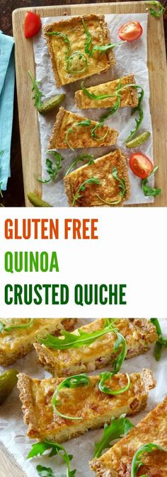 This GLUTEN FREE QUINOA CRUSTED QUICHE is a healthier alternative to a…
