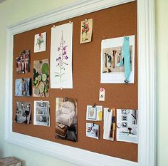 How to Make a Framed Bulletin Board | The Happy Housewife™ :: Home Management