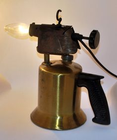 Vintage Electrified Blow Torch  repurposed  by montesanoalpacas, $49.00