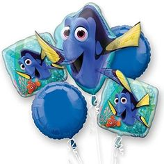 Disney Finding Dory Balloon Bouquet 5 balloons *** You can get more details by clicking on the image.