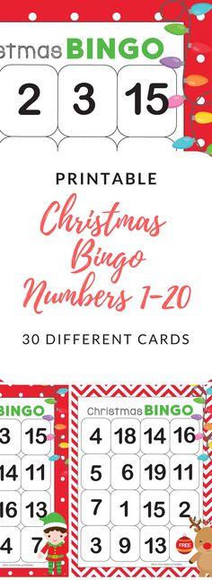 Numbers 120 Bingo Game Christmas Theme TpT ESL t