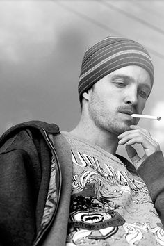 Aaron Paul-Cannot wait for Breaking Bad! Really wishing this was not the last season. This Pinkman pic makes me nostalgic for smoking.