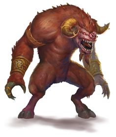 Demon, Goristro (from the fifth edition D&D Monster Manual). Art by Conceptopolis.