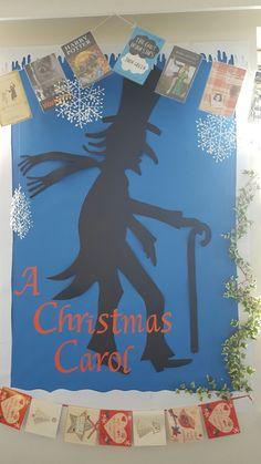 A Christmas Carol School Displays, Classroom Displays, Christmas Door, Christmas Crafts, Dickens Christmas Carol, Classroom Door, Library Design, Holiday Fun, Office Decor