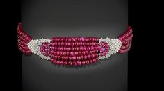 This is one of the best ruby chokers ever to be made and its made by none other than the Cartier. This ruby and pearl necklace is made f...