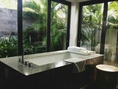 Amazing bathroom view.
