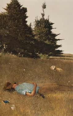 Who is that guarding the berry picker?: Andrew Wyeth