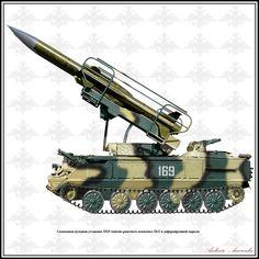 2K12 Kub/Kvadrat Self Propelled Air Defence System / SA-6 Gainful ...