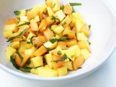 Mango Aprikosen Früchte Salsa mit Minze