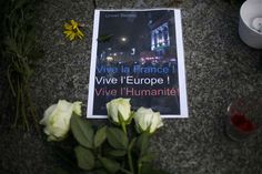 Photos from Paris, France and around the world as people mourning the loss of dozens in multiple terror attack