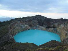 The crater lakes of Kelimutu. Picture: Jon Algie