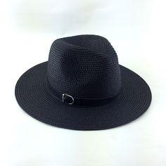Aliexpress.com: Comprar Verano floppy summer sun de la paja sombreros de playa para mujeres, vogue classic negro de jazz del sombrero del sol, chapeu feminino, sombrero de mujer de sombrero de color rosa fiable proveedores en Hats Kingdom