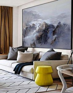 Extra Large Wall Art Abstract Painting Contemporary Art Blue Oil Painting Large Canvas Art Painting On Canvas Landscape Painting Art Large Canvas Art, Abstract Canvas, Blue Canvas, Canvas Artwork, Grand Art Mural, Landscape Paintings, Art Paintings, Painting Art, Large Painting
