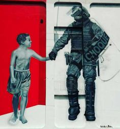 Graffiti invade Batalhão da Tropa de Choque pela porta da frente