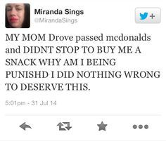Miranda tweets:
